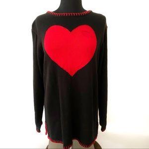 VINTAGE❤️Quacker Factory❤️VALENTINE Heart Sweater
